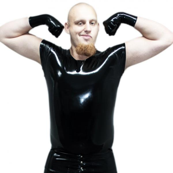 "hautenges Latex-Shirt ""Titus"""